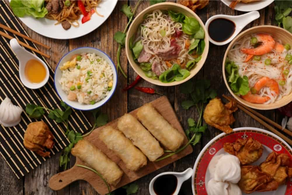 assorted asian dish